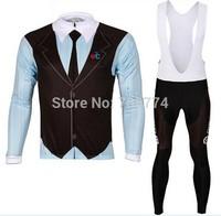 Hot Selling 2014 British Gentleman Winter Fleece/Thermal BikeJersey(Upper)/Bib Pant(BOTTOM)/Bicycle Wear/Some Sizes/Italy Ink