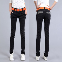 Vogue Casual Cotton Lady Trousers Women Slim Long Pants Trousers High Quality Female Jeans WPT013