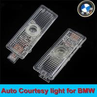 4XWIRELESS LED Courtesy Lamp /LED Courtesy Light /car Welcome Light /No wire plug and play DIY LED Auto door logo lamp E46 E39