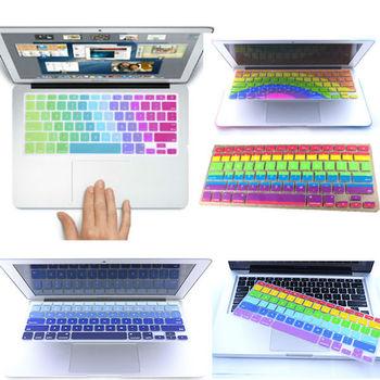 Новые радуга клавиатура протектор кожного покрова для MacBook Pro 13 15 сетчатки ...