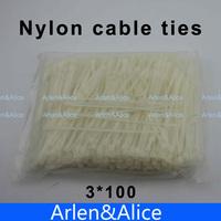1000pcs 3mm*100mm Nylon cable ties