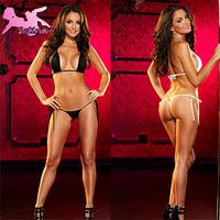 micro bikini (Bra+T-back) Sexy Women Stripper Wear Three Point lingerie set Sex Products Roupa Feminina erotic lingerie XSY036