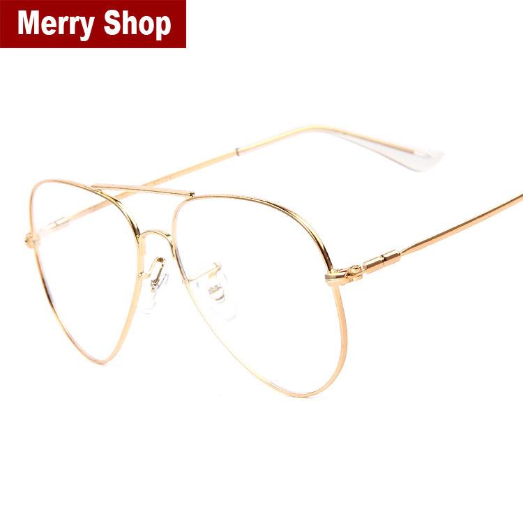 2014 New Fashion Men Titanium Eyeglasses Frames Men Brand Titanium Eyeglasses Gold Aviator Frame With Glasses 2 Color(China (Mainland))