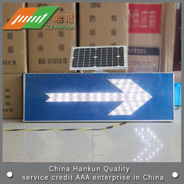 Solar LED traffic sign back instructions(China (Mainland))