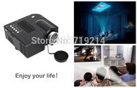 2014 Portable with HDMI AV VGA USB LED Projector Mini Multimedia For Home Theater Computer Displayer Black US Plug b24 12750