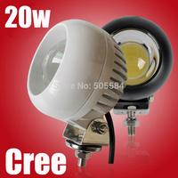 4 inch Round Cree Led work light Offroads Car spotlights Front bumper Roof driving headlights 20W 12v-24v ATV SUV Truck Fog lamp