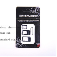 Nano SIM Card to Micro Standard Adapter Adaptor Converter Set For iPhone 5 4S 4 CP003