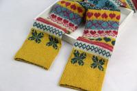 WIIPU Snow piles love rabbit wool socks Legs stockings leggings sets of sets of warm boots