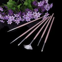 6pcs DIY Professional Nail Brushes Nail Art Pen Nail Art Design Painting Tool Pen Polish Brush Set Kit