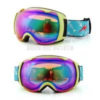 New genuine brand ski goggles double lens anti-fog big spherical professional ski glasses unisex multicolor snow goggles
