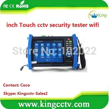 new ip camera cctv tester touch screen DC12V cctv security test Equipment ipc PTZ tester wifi (HK-TM806IPC)(China (Mainland))