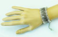 Bohemian Antalya Bracelet Silver Golden, Gypsy, Statement, Boho Coachella, Festival Turkish Jewelry, Sinaya, Tribal Ethnic