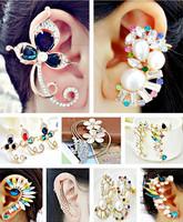 $13.99/2designs,women personality unique fashion rhinestone earrings,ear cuff