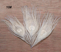 20pcs 10-15cm / 4-6'' white color real peacock feathers eye fly tying plumes for jewelry craft home decoration making bulk sale