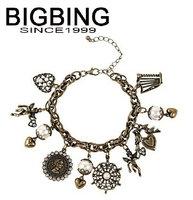 BigBing  jewelry fashion jewelry crystal pearl angel pendant Bracelet charm bracelet  fashion Bracelet fashion jewelry Q636