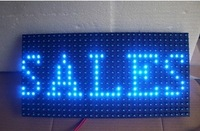 High brightness  P10 outdoor LED display moudle 32*16 pixle Scrolling Message /Blue Color 1B  LED display moudle
