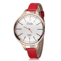 Watch Woman Leather Band Fashion Watches Women Dress Wristwatches Workwear Casual Relogio Quartz Reloj g