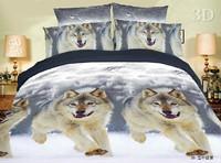 gray yellow white  animal horse lion leopard tiger Cotton queen size Duvet / Quilt Cover Bedding sets sheet pillowcase