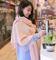 LingYangZaoAn  female  Beaded knitting wool twill scarf to keep warm    wh398