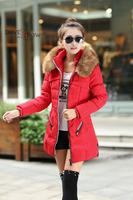 3 colors Women's cotton-padded jacket winter medium-long down cotton coat plus size jacket female slim ladies jackets and coats