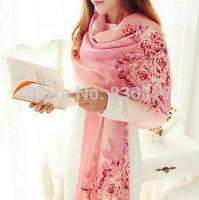 LingYangZaoAn  female  100% silk printed scarves   sj5539