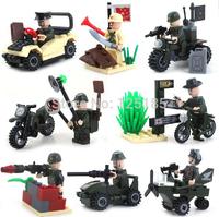 Hot Toy Enlighten Building Blocks Military Figures Combat Zones 8 sets/lot Assembling Blocks DIY Model Building Gift for Boy