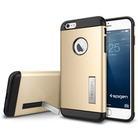 New Arrival Unique Kickstand Function Cover Spigen SGP Case For Iphone 6 Plus 5.5inch Luxury Retro Gold Drop Shipping AAA04413