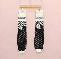 WIIPU women long section of snow in winter popular models leg sleeve knit wool socks