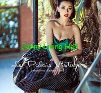 Le Palais Vintage Sweet retro PIN UP Emerald color bandage dress