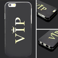 1PC Creative Letter Case Soft Back Shockproof Thin Skin VIP Case Cover Shell for Iphone 6 Gilrs Gift Case, Free & Drop Shipping