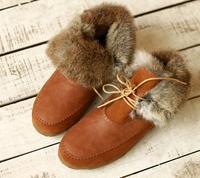 Top Exclusive custom models handmade women boots, high-quality leather, fur Rabbit women warm snow boots