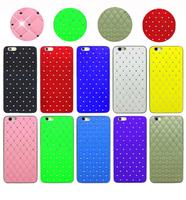 2 pcs/ lot Luxury Rhinestone Plastic Case for iPhone 6 4.7'' Free Shipping Luxure Bling Diamond Plating Skinning Phone Case