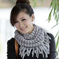 For Russia Winter ! Christmas New Year Gift ! New Fashion Women's Corn kernels Shawl Knitted Neck Cowl Wrap Scarf Warmer Circle