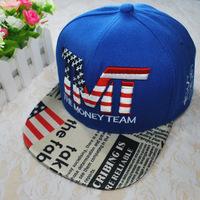 TMT tidal flat caps for men and women along the hip-hop hat flat brimmed baseball cap letters