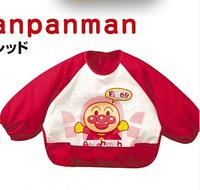 Free shipping Anpanman waterproof bibs bib pocket sleeved gowns eat rice lengthening waterproof anti-dress clothing