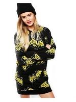 XS-XXL 2014 New Of Women Fashion Halloween letter print jersey loose pullover sweatshirt  Winter