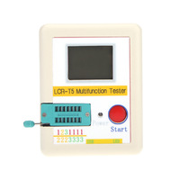 Transistor Tester White LCD Backlight Diode Triode Capacitance ESR Meter MOS Triac + Case + Li-ion Battery