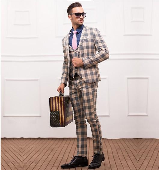 Wedding dress xxxl - Slim Suits Wedding Suits For Men Wedding Dress Marriage Three Pieces