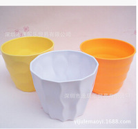 free shipping Artificial flowers melamine resin plastic pots imitation ceramic flower vase