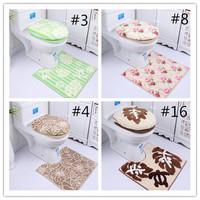 Fashion Simple Microfiber three-piece toilet closestool mat toilet set toilet seatcover three piece overcoat toilet case HD0218
