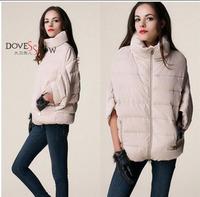 2014 full new ladies fashion down coat winter jacket outerwear Bat sleeve thick women jackets parka overcoat women cotton-padded
