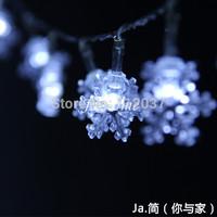 20 LED Chandelier Luminous Battery Light Christmas Tree Decoration Navidad Lamp 2.5M Holiday Lighting String Snow Pendant Lights