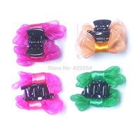 Gauze Flower Ribbon Bow Hairpin Clip Children Accessories Ribbon Hair Girls Clips Baby Girl Headwear Barrette 30 pcs/lot