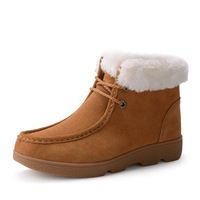2014 Winter New Arrive Fashion Martin Flat Boots Snow Women's  Warm Winter Boots Lace Motorcycle Boots Big size female shoes