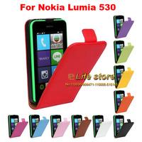 100% Genuine Leather Case Mobile Phone Case Flip Cover  For Nokia Lumia 530