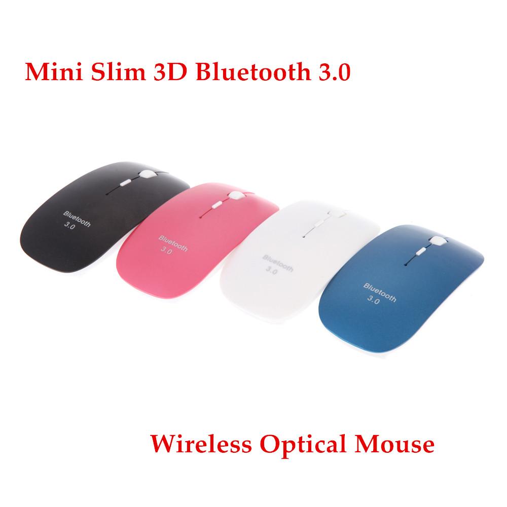 New Mini Slim 3D Bluetooth 3.0 Wireless Optical Mouse Mice 1600DPI For Macbook Windows 7 XP Vista Laptop Free Shipping(China (Mainland))
