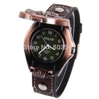 2014 New characteristic fashionalbe Motor patterm Men's Quartz Wrist Watch Black Leather Watchband wristwatch luxury gift