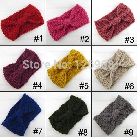 Free Shipping!2014 New 25pcs/lot Winter women Wholesale Knit Hairband Crochet warmer Head wrap Headband Ear Warmer Gift(China (Mainland))