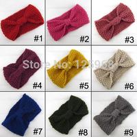 Free Shipping!2014 New 25pcs/lot Winter women Wholesale Knit Hairband Crochet warmer Head wrap Headband Ear Warmer Gift