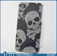 10x Simple Dark Blue Artistic Skeleton Hard Case for iPhone 4 4S Skull Design
